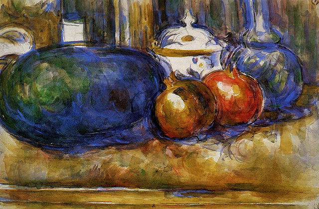 Still Life with Watermelon and Pomegranates, Paul Cezanne, 1906