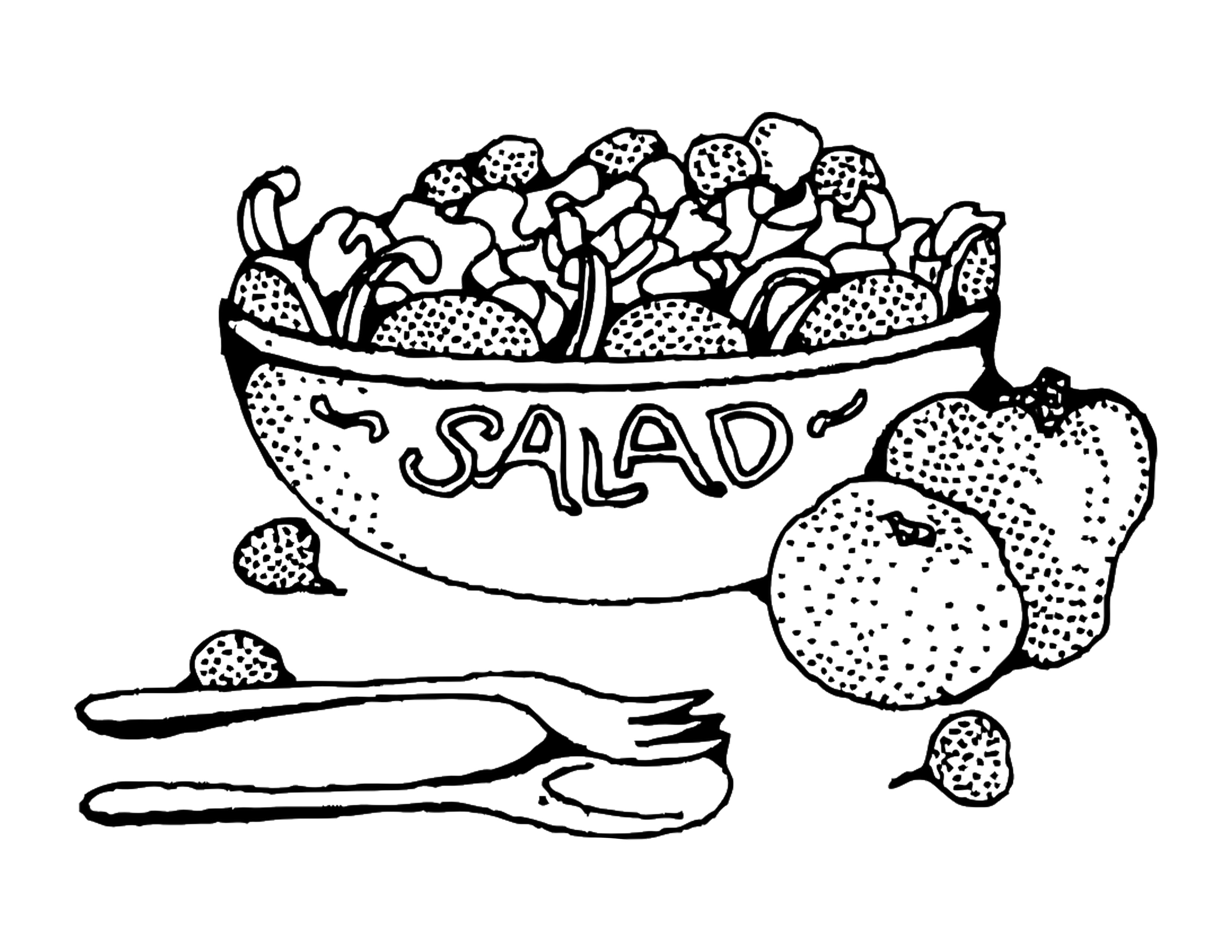 Salad Coloring Page