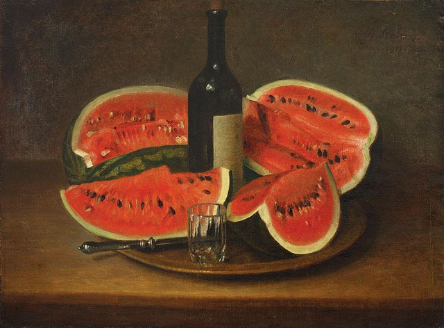 Still Life with Watermelons, Constantin Stahi, 1912