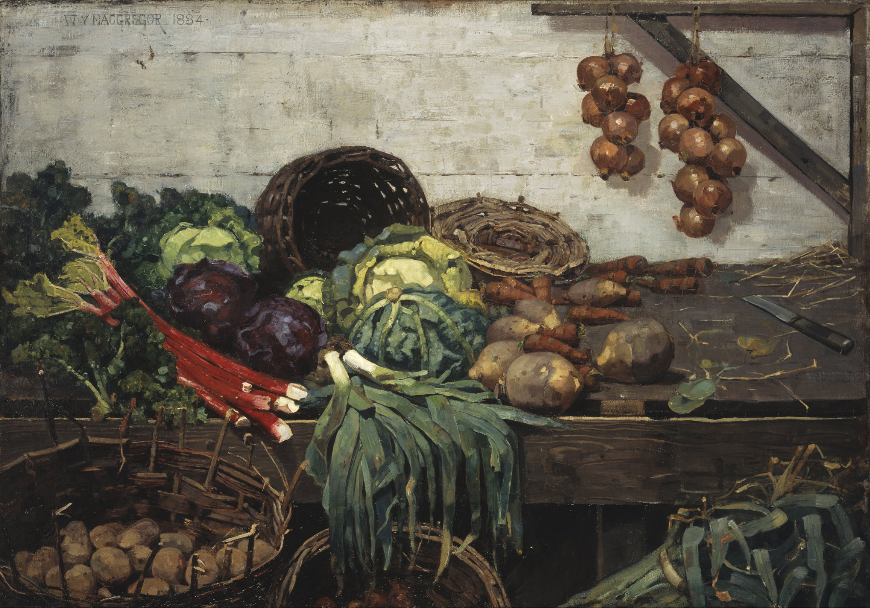 The Vegetable Stall, William York MacGregor