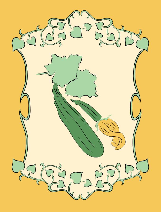 Zucchini garden sign 1