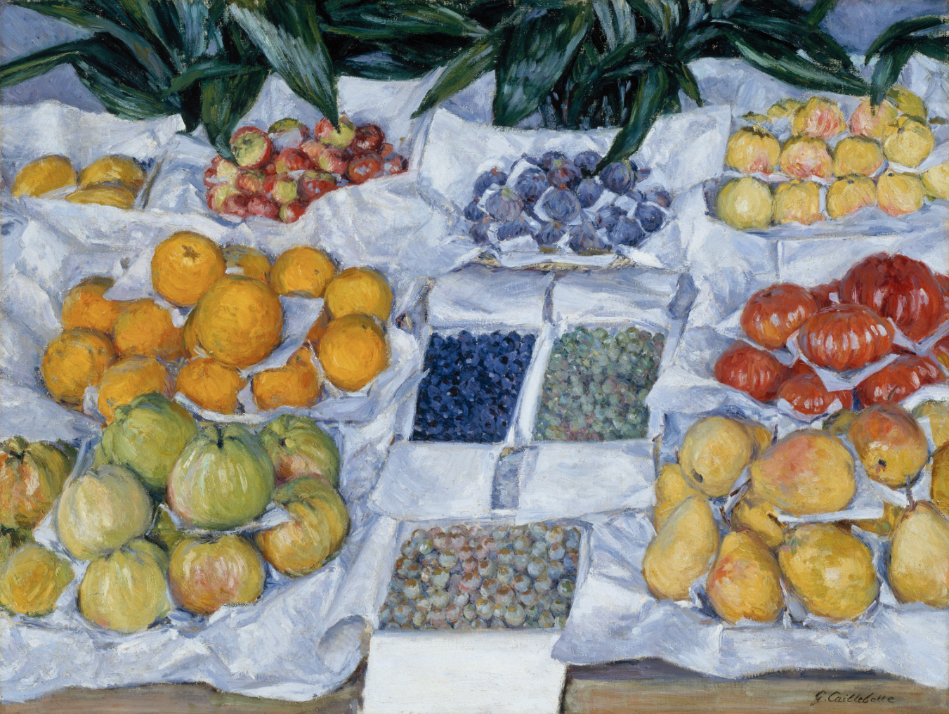 Fruit Displayed on a Stand, Gustave Caillebotte, 1881-82.