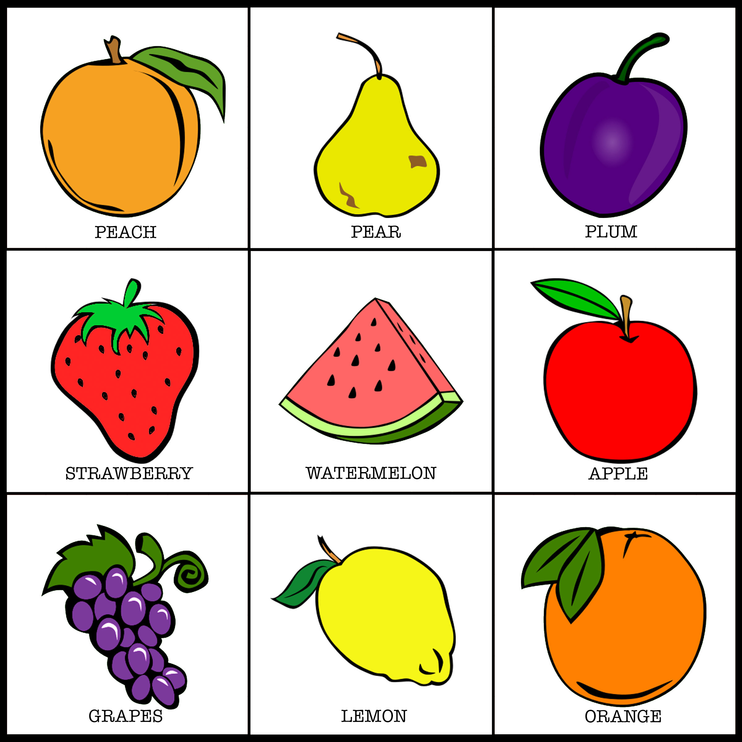 FRUIT GAME CARDS